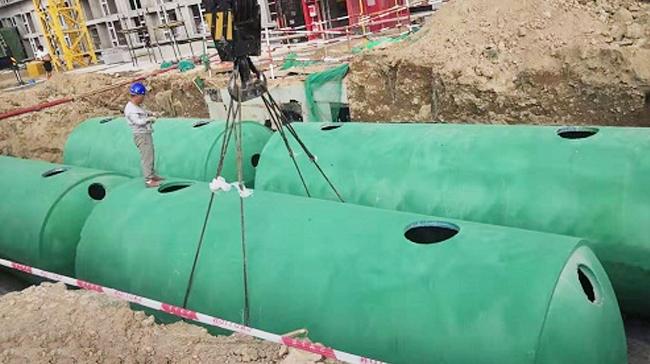浙江新绿洲景观工程定制百泰环保成品混凝土化粪池(一)